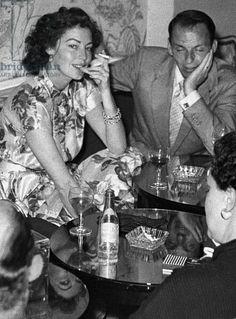 Frank Sinatra and Ava Gardner in London