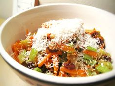Raw Food Recipe for Asian Caribbean Carrot Coconut Salad. Something to go along with your reggae music this summer...