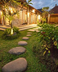 """""""The vision must be followed by the venture. It is not enough to stare up the steps - we must step up the stairs."""" - Vance Havner  _  Stepping stones to the door of our villa in Ubud Bali.  _  We spent a total of 4 months in Bali in 2015. It's our home away from home. If you're thinking about a trip there we have plenty of articles about beautiful Bali on travelwithbender.com.  _  Would you like to see what happens behind-the-scenes in our daily travels? Follow us on Snapchat…"""