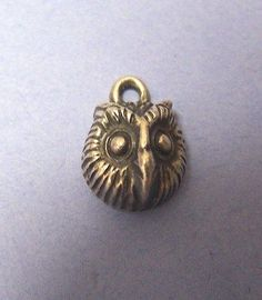 James Avery Vintage Retired Solid Owl Head Charm Sterling Silver 925