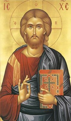 """Jesus Christ, the Son of God, the Savior ( source ) """"Since our sweet Jesus is so good, compassionate and kind, why should you des. Religious Images, Religious Icons, Religious Art, Byzantine Icons, Byzantine Art, Christus Pantokrator, Jesus Christus, Orthodox Christianity, I Icon"""