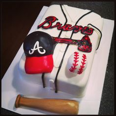 Atlanta Braves baseball cake **MY JAW JUST HIT THE FLOOR! LOVE THIS. WANT THIS!**