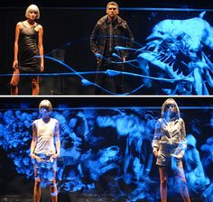 Diesel holographic fashion show Opera Software, Holographic Fashion, Stage Set Design, 3d Video, Music Do, Projection Mapping, Theatre Stage, Spring Design, Cool Technology