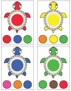 Color sorting and matching activities Preschool Color Activities, Preschool Learning Activities, Book Activities, Teaching Kids, Kids Learning, Matching Games For Toddlers, Teaching Colors, Montessori Materials, Kids Education