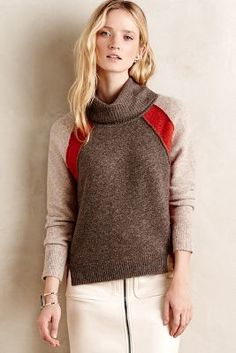 Anthropologie Colorblocked Cowlneck #anthroregistry