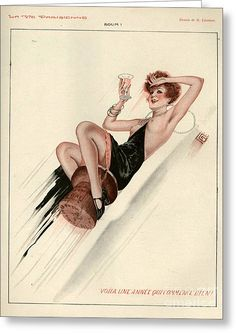 France La Vie Parisienne Magazine Greeting Card by The Advertising Archives Vintage Magazine, Magazine Art, Vintage Ads, Vintage Posters, Bus Art, Advertising Archives, Pin Up Posters, Retro Futuristic, Retro Art