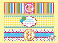 Crumbs Lalaloopsy Birthday Water Bottle Labels  by moandcoparties, $6.00