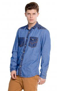 cc7918d74f006 102 Best Men s Denim Shirts images   Denim shirt men, Men s denim ...