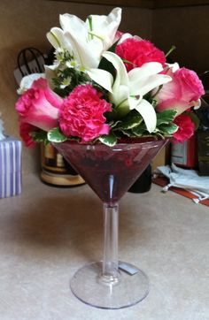 Martini Flowers.  1-800-flowers