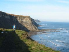 The coastal walk from Robin Hood's Bay to Whitby is so beautiful to walk. It skirls the cliffs all the way and the scenery is just beautiful.