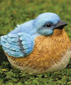 Take a look at this Portly Bluebird Figurine by Evergreen on #zulily today!