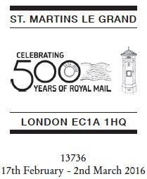 500 Years of Royal Mail (UK)