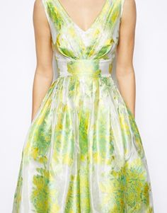 Image 3 of ASOS Jacquard Midi Prom Dress