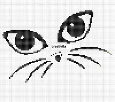 quilting like crazy Cross Stitch Letters, Cross Stitch Boards, Cross Stitch Baby, Cross Stitch Animals, Cat Cross Stitches, Cross Stitching, Cross Stitch Embroidery, Silhouette Chat, Tapestry Crochet