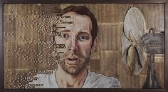 Andrew Myers portraits created by creating depth with screws and then painting the heads.