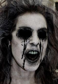 Demo makeup by Rhonda Causton(Reel Twisted FX) - SPFX Makeup - Halloween Creepy Makeup, Horror Makeup, Sfx Makeup, Costume Makeup, Dead Makeup, Halloween Kostüm, Halloween Face Makeup, Haunted House Makeup, Mode Bizarre
