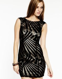Lipsy Art Deco Dress