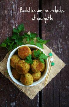 Boulettes pois chiches courgette (végétarien)