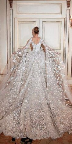 30 Ball Gown Wedding Dresses Fit For A Queen ❤️ ball gown wedding dresses w. 30 Ball Gown Wedding Dresses Fit For A Queen ❤️ ball gown wedding dresses with low back and long sleeves by sadek majed couture ❤️ See more: www. Princess Wedding Dresses, Dream Wedding Dresses, Bridal Dresses, Queen Wedding Dress, Princess Ball Gowns, Ball Gown Wedding Dresses, Gorgeous Wedding Dress, Modest Wedding, Lace Wedding