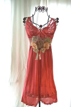 Gypsy cowgirl Slip Dress romantic boho Farm by TrueRebelClothing