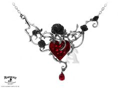 Alchemy Gothic Bed of Blood Roses Pendant Necklace [P630] - $115.00 : Mystic Crypt, the most unique, hard to find items at ghoulishly great prices!