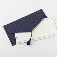 Enveloppe cadeau et carte / Valentino bleu marine