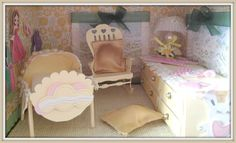 Itsy Bitsy - The Blog place: A Pretty Girly Dollhouse Part 3 - The Bedroom and The Nursery