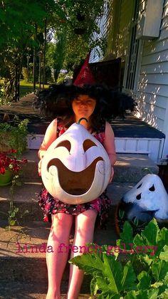 Extra Large #White #Pumpkin #Jack O Lantern by lindafrenchgallery