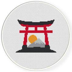 Charts Club Members Only: Torii Gate Cross Stitch Pattern
