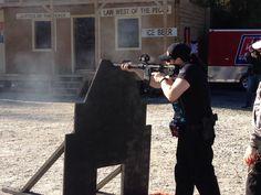 Monica shooting cowboy town...