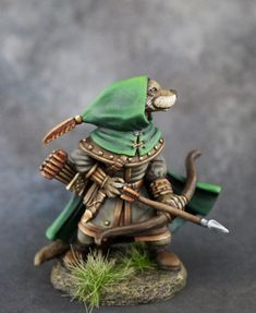 Otter Ranger with Bow - Critter Kingdoms™ Anthropomorphic Animals - Miniature Lines