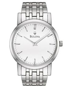 Bulova Men's Stainless Steel Bracelet Watch 38mm