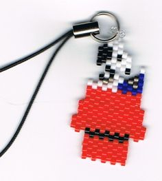 Hand Beaded Snoop Dog on house cell phone charm by beadfairy1, $6.95