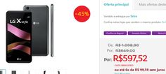 """Smartphone LG X Style 16GB Tela 5.0"""" Câmera 8MP 4G Processador Quad Core de 1.3 GHz e 1.5GB de RAM >"""