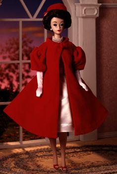 Silken Flame Barbie Doll - Porcelain - 1993 Porcelain Treasures Collection - Barbie Collector