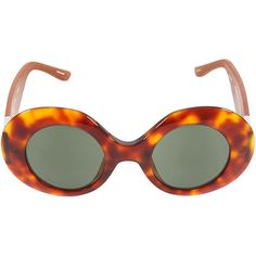 The Row by Linda Farrow tortoiseshell color sunglasses (11.480 RUB) ❤ liked on Polyvore featuring accessories, eyewear, sunglasses, glasses, vintage, brown sunglasses, tortoiseshell glasses, tortoise sunglasses, tortoise shell glasses and brown glasses