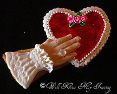 Victorian Romance Cookie by well kiss my frosting, via Flickr