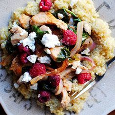 Spinach and chicken stir-fry with raspberries, anyone?