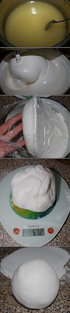 Маршмеллоу своими руками и белоснежная мастика из них : Мастика, марципан, кремы