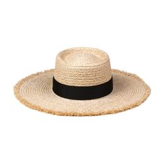 Buy Lack of Color Women's Ventura Raffia Straw Wide-Brimmed Boater Hat Cowboy Hat Styles, Cowboy Hats, Black Grass, Real Diamond Necklace, White Beanies, Boater Hat, Bikinis For Sale, Ladies Golf, Hats For Men