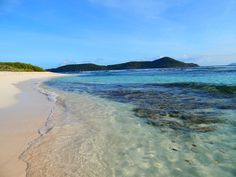 Lindquist Beach, St Thomas, US Virgin Islands  Now famous for Hannah Davis' DirecTV ad, this is a scenic white-sand beach with some of the region's best facilities.