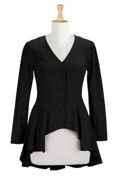 Unique Tees, Retro Style Tops Women's designer fashion - Shop Blouses, dressy tops, wrap tops, women's short sleeve tops, women's long sleeve tops -   eShakti.com