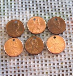Check out US penny charms, stamping supplies, copper stamping disc, top drilled pennies on maggiemaybecrafty Copper Penny, Copper And Brass, Arts And Crafts Projects, Hobbies And Crafts, Us Penny, Hand Stamped Metal, Rustic Crafts, Metal Letters, Stamped Jewelry