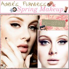 """Flawless Spring Makeup - Adele Makeup Based."" by fabulous-tipsters ❤ liked on Polyvore"