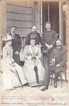 Marie with her fiancé Ferdinand of Romania Princess Alexandra, Princess Beatrice, Princess Victoria, Queen Victoria, Grand Duke, Herzog, Queen Mary, Ferdinand, Romania