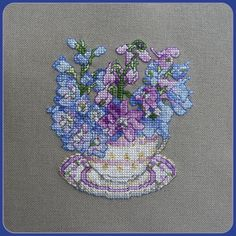 Teacup flowers, the attention to detail is stunning.