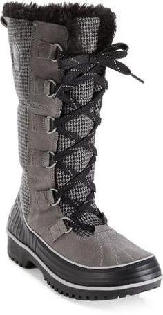 Sorel Women's Tivoli High II Snow Boots Grey Houndstooth 10.5