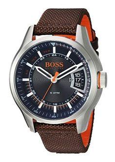 14f615409603 Hugo Boss Orange Hong Kong 1550002 Men s Quartz Stainless Steel and Nylon  Watch. Relojes Para Hombres