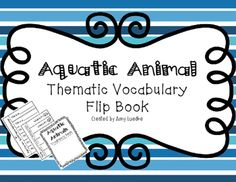 """Your students will create easy to use flip books that will allow them to practice aquatic animal vocabulary! Each book is made of two pieces of paper. The top sheet has the questions, which ask """"What is it?"""" with a picture of an aquatic animal. Under the flap on the bottom sheet, you will find the answer, which states """"It is a/an ________________."""" It will be the job of your students to look at the picture included in the question and write the vocabulary word into the space provided in…"""