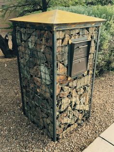 Look at our NEW mailbox design!  A must have for any landscape!  www.rock-gabion.com